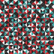 Modern seamless pattern with funky triangles. EPS10. Stock Illustration