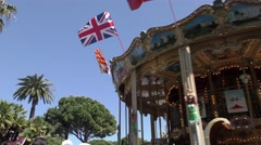 Cannes Croisette Carousel - stock footage