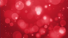 4k Red Bokeh Animation Background Seamless Loop. Stock Footage