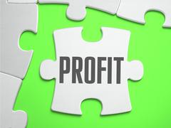 Profit - Jigsaw Puzzle with Missing Pieces Stock Illustration