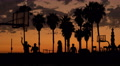 4K Palm Trees 02 Sunset Silhouettes Venice Beach California 4k or 4k+ Resolution