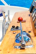 Nautical ships control panel - stock photo