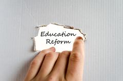 Education reform text concept - stock photo