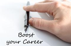 Boost your career text concept - stock photo