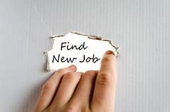 Find new job text concept - stock photo
