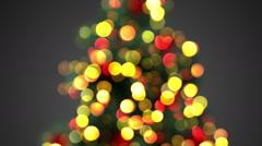 defocused christmas tree lights seamless loop - stock footage