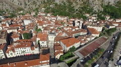 View of Kotor old town, Montenegro Stock Footage