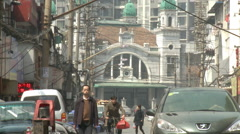 Hankou train station, Chinese people, Wuhan Stock Footage
