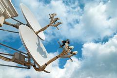 Stock Photo of Satellite antennas