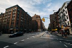 The intersection of 9th Avenue and 22nd Street, in Chelsea, Manhattan, New Yo Stock Photos