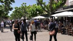 Busy croisette - cannes Stock Footage