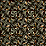 Primitive simple  grey retro seamless pattern - stock illustration