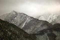 Winter scene in the Japanese alps, Nagano prefecture - stock photo