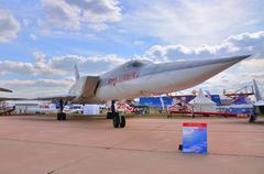 MOSCOW, RUSSIA - AUG 2015: strategic strike bomber Tu-22M Backfi Stock Photos