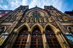 Our Lady of Guadalupe Catholic Church at St. Bernard's in Chelsea, Manhattan, - stock photo