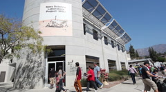 Jet Propulsion Lab's Annual Open House Attracts Crowds Stock Footage