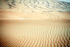 Wind created patterns in the sand dunes of Liwa oasis, United Arab Emirates - stock photo