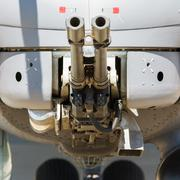 Aircraft gun installed on military helicopter Kuvituskuvat