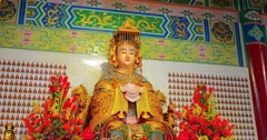 5120x2700, 5k video - Statue of Mazu, the Chinese, patron godess of fishermen Stock Footage