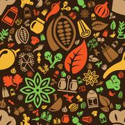 spice seamless pattern - stock illustration