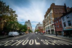 6th Avenue, in Greenwich Village, Manhattan, New York. Stock Photos