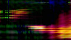TV screen pixels flicker with color and video motion - Video Flux 043 HD, 4K - stock footage