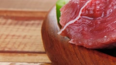 Meat ready to cooking Stock Footage