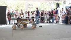 JPL Open House Mars Rover Mock-Up - stock footage