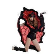 Halloween. Beautiful girl posing as Spider Queen - stock photo