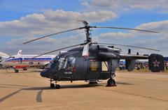 MOSCOW, RUSSIA - AUG 2015: utility helicopter Ka-226 Hoodlum pre Stock Photos
