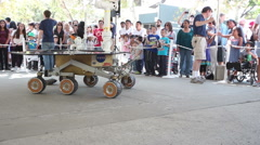 JPL Open House Mars Rover Mock-Up 3 - stock footage