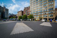 Buildings at Union Square, in Manhattan, New York. Stock Photos