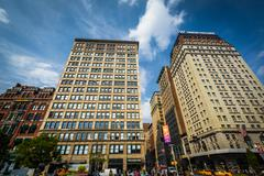 Buildings at Union Square, in Manhattan, New York. - stock photo
