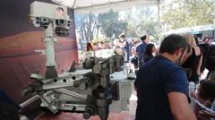 JPL Open House Curiosity Crowd 2 - stock footage