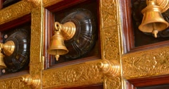 5120x2700, 5k video - Decorative, ceremonial bells, mounted on a door in a Hi Stock Footage