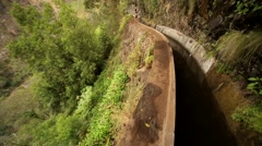 Irrigation Canal (Levada) on the island Madeira Stock Footage