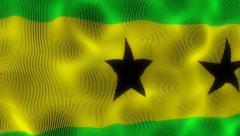 Waving Flag Sao Tome and Principe Stock Footage