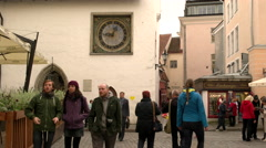 St Olaf's clock in Tallinn Stock Footage