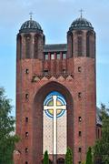 Kreuzkirche - Orthodox Church in Kaliningrad (until  1946 Koenigsberg). Russi Stock Photos