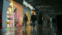 Duty Handy shop at the Vnukovo Airport, audio included Stock Footage