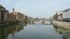 View of the Arno River - stock footage