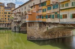 landscape of Ponte Vecchio in Florence, Italy - stock photo