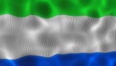 Waving Flag Sierra Leone Stock Footage
