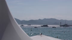 Sea view croisette Cannes - stock footage