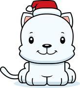 Stock Illustration of Cartoon Smiling Xmas Kitten