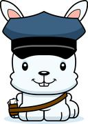 Stock Illustration of Cartoon Smiling Mail Carrier Bunny