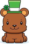 Cartoon Smiling Irish Bear Stock Illustration