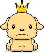 Cartoon Angry Prince Puppy - stock illustration