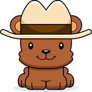 Stock Illustration of Cartoon Smiling Cowboy Bear
