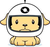 Stock Illustration of Cartoon Angry Astronaut Puppy